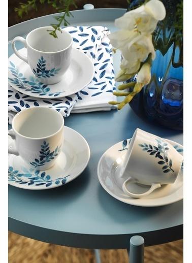 Kütahya Porselen Yasemin 10889 Desen Kahve Fincan Takımı Renkli